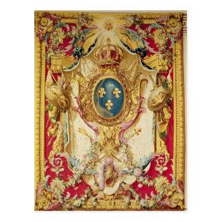Manteau des bras de la famille royale française carte postale