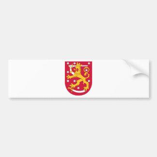 Manteau des bras de la Finlande - le Suomen Autocollant De Voiture