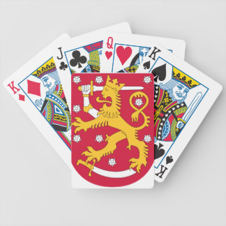 Manteau des bras de la Finlande - le Suomen Jeu De Cartes