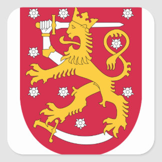 Manteau des bras de la Finlande - le Suomen Sticker Carré