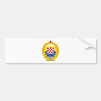 Manteau des bras de la république de Croatie socia Autocollant Pour Voiture