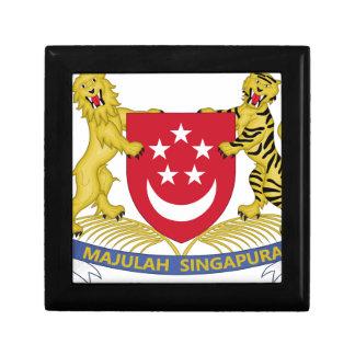 Manteau des bras de l'emblème de 新加坡国徽 de petite boîte à bijoux carrée