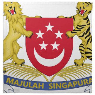 Manteau des bras de l'emblème de 新加坡国徽 de serviettes en tissus
