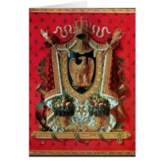 Manteau des bras de l'empire français carte de vœux