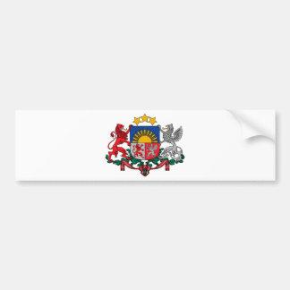 Manteau des bras des ģerbonis de la Lettonie - du Autocollant De Voiture