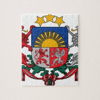 Manteau des bras des ģerbonis de la Lettonie - du Puzzle