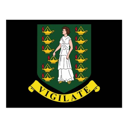 Manteau des bras des Îles Vierges britanniques Carte Postale