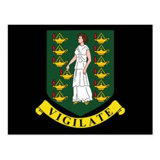 Manteau des bras des Îles Vierges britanniques Cartes Postales