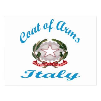 Manteau des bras Italie Carte Postale