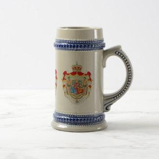 Manteau des bras royal danois vintage du Danemark Chope À Bière