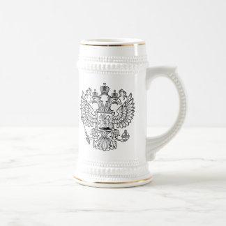 Manteau des bras russe de la Fédération de Russie Chope À Bière
