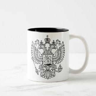 Manteau des bras russe de la Fédération de Russie Mug Bicolore