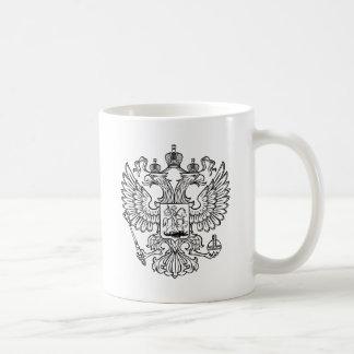 Manteau des bras russe de la Fédération de Russie Mug Blanc