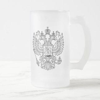 Manteau des bras russe de la Fédération de Russie Mug En Verre Givré