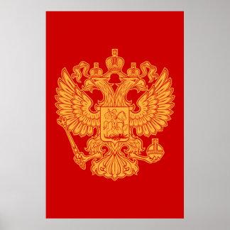 Manteau des bras russe de la Fédération de Russie Poster