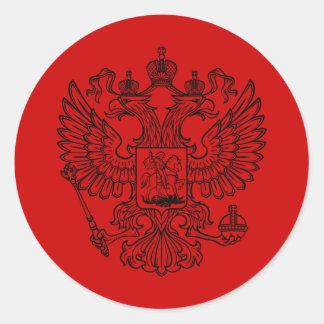 Manteau des bras russe de la Fédération de Russie Sticker Rond