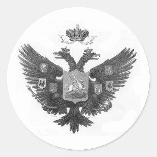 Manteau des bras russe sticker rond