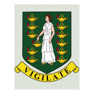 Manteau des Îles Vierges britanniques de détail de Carte Postale
