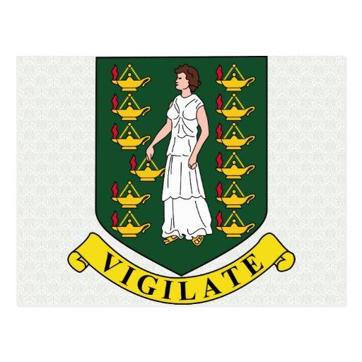 Manteau des Îles Vierges britanniques de détail de Cartes Postales