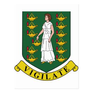 Manteau des Îles Vierges britanniques des bras Carte Postale