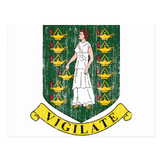 Manteau des Îles Vierges britanniques des bras Cartes Postales