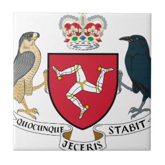 Manteau d'île de Man des bras - emblème mannois Carreau