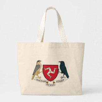 Manteau d'île de Man des bras républicain - Grand Tote Bag