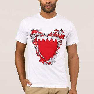 Manteau du Bahrain de T-shirt de bras