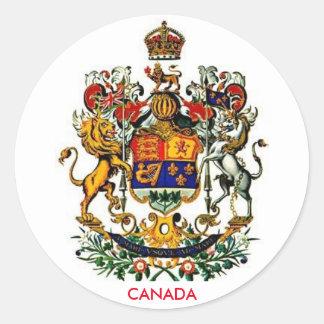 Manteau du Canada d'autocollant rond de bras Sticker Rond