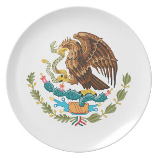 Manteau du Mexique des bras Assiette
