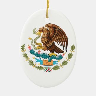 Manteau du Mexique des bras Ornement Ovale En Céramique