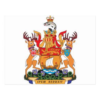 Manteau du Nouveau Brunswick des bras Carte Postale