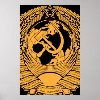 Manteau d'Union Soviétique de Russe vintage de gui Poster