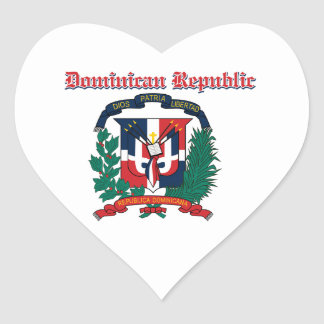 Manteau grunge de la République Dominicaine des Sticker Cœur