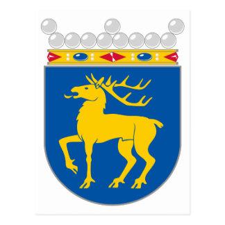 Manteau officiel d'Aland de symbole d'héraldique Carte Postale