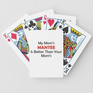 Mantee de ma maman est meilleur que votre maman cartes bicycle poker