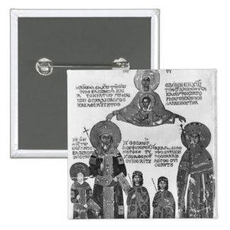 Manuel Palaeologus protégé par Vierge Marie Badges Avec Agrafe