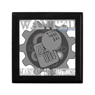 manuel voulu ou rien (boîte de vitesse) petite boîte à bijoux carrée