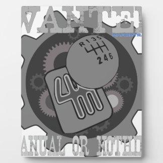 manuel voulu ou rien (boîte de vitesse) plaque photo