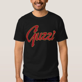 Manuscrit classique de point de Guzzi T-shirts