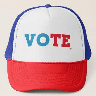 """Manuscrit de bloc casquette de """"VOTE"""" -"""