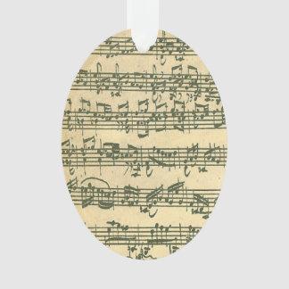 Manuscrit de musique de violon de Bach Chaconne