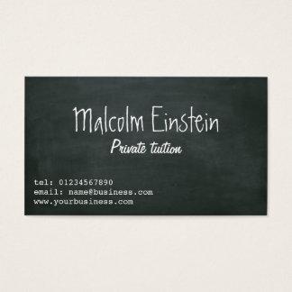 Manuscrit de tableau noir de tuteur privé cartes de visite