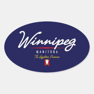 Manuscrit de Winnipeg Sticker Ovale