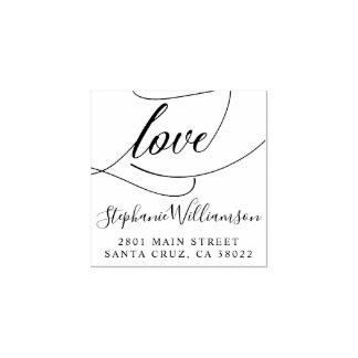 Manuscrit élégant d'amour épousant l'adresse de