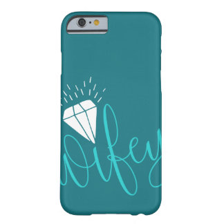 Manuscrit et diamant de turquoise de Wifey Coque iPhone 6 Barely There