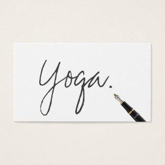 Manuscrit manuscrit d'instructeur de yoga élégant cartes de visite