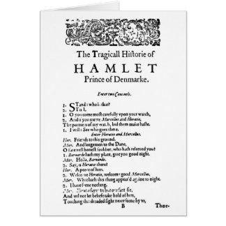 Manuscrit original de Hamlet Carte De Vœux