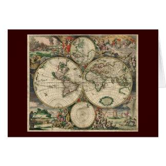 Map de Gerard Van Schagen's du monde, 1689 Cartes