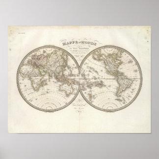 Mappemonde - carte du monde posters